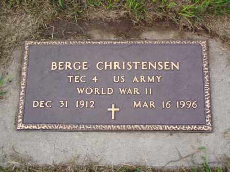 CHRISTENSEN, BERGE - Minnehaha County, South Dakota | BERGE CHRISTENSEN - South Dakota Gravestone Photos
