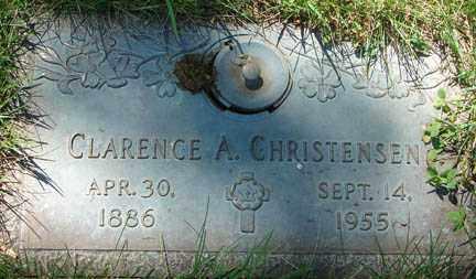 CHRISTENSEN, CLARENCE A. - Minnehaha County, South Dakota   CLARENCE A. CHRISTENSEN - South Dakota Gravestone Photos