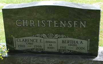 CHRISTENSEN, BERTHA AMELIA - Minnehaha County, South Dakota | BERTHA AMELIA CHRISTENSEN - South Dakota Gravestone Photos
