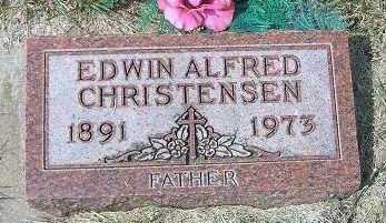 CHRISTENSEN, EDWIN ALFRED - Minnehaha County, South Dakota | EDWIN ALFRED CHRISTENSEN - South Dakota Gravestone Photos