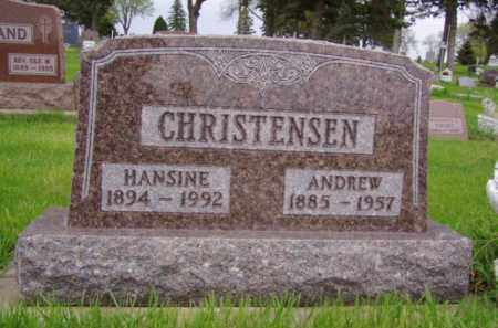 ANDERSON CHRISTENSEN, HANSINE - Minnehaha County, South Dakota | HANSINE ANDERSON CHRISTENSEN - South Dakota Gravestone Photos