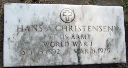 CHRISTENSEN, HANS A. (WWI) - Minnehaha County, South Dakota | HANS A. (WWI) CHRISTENSEN - South Dakota Gravestone Photos