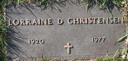 CHRISTENSEN, LORRAINE D. - Minnehaha County, South Dakota | LORRAINE D. CHRISTENSEN - South Dakota Gravestone Photos