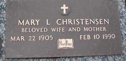 CHRISTENSEN, MARY L. - Minnehaha County, South Dakota   MARY L. CHRISTENSEN - South Dakota Gravestone Photos