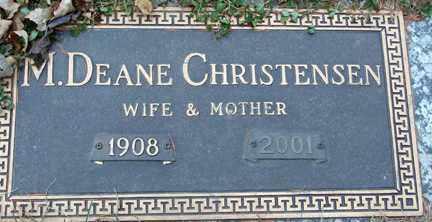 CHRISTENSEN, M. DEANE - Minnehaha County, South Dakota   M. DEANE CHRISTENSEN - South Dakota Gravestone Photos