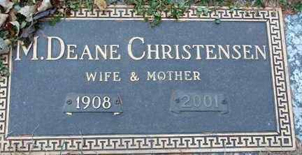 CHRISTENSEN, M. DEANE - Minnehaha County, South Dakota | M. DEANE CHRISTENSEN - South Dakota Gravestone Photos