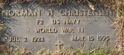 CHRISTENSEN, NORMAN H. - Minnehaha County, South Dakota | NORMAN H. CHRISTENSEN - South Dakota Gravestone Photos