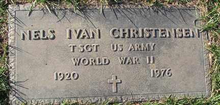 CHRISTENSEN, NELS IVAN (WWII) - Minnehaha County, South Dakota   NELS IVAN (WWII) CHRISTENSEN - South Dakota Gravestone Photos