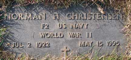 CHRISTENSEN, NORMAN H. (WWII) - Minnehaha County, South Dakota | NORMAN H. (WWII) CHRISTENSEN - South Dakota Gravestone Photos