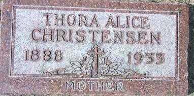 CHRISTENSEN, THORA ALICE - Minnehaha County, South Dakota | THORA ALICE CHRISTENSEN - South Dakota Gravestone Photos