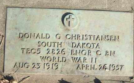 CHRISTIANSEN, DONALD G. (WWII) - Minnehaha County, South Dakota | DONALD G. (WWII) CHRISTIANSEN - South Dakota Gravestone Photos