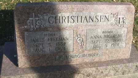 TUFF CHRISTIANSEN, ANNA NICOLENE - Minnehaha County, South Dakota   ANNA NICOLENE TUFF CHRISTIANSEN - South Dakota Gravestone Photos