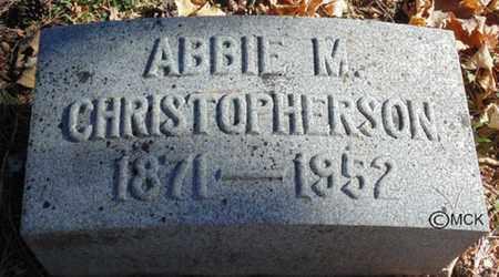 CHRISTOPHERSON, ABBIE M. - Minnehaha County, South Dakota | ABBIE M. CHRISTOPHERSON - South Dakota Gravestone Photos