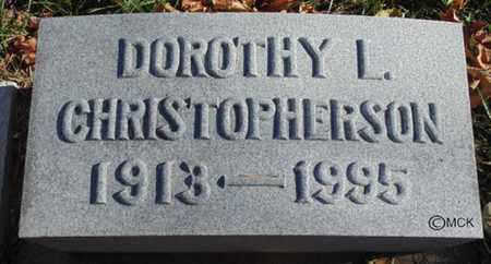 CHRISTOPHERSON, DOROTHY L. - Minnehaha County, South Dakota   DOROTHY L. CHRISTOPHERSON - South Dakota Gravestone Photos