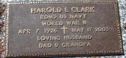 CLARK, HAROLD L. - Minnehaha County, South Dakota | HAROLD L. CLARK - South Dakota Gravestone Photos