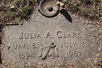 CLARK, JULIA A. - Minnehaha County, South Dakota | JULIA A. CLARK - South Dakota Gravestone Photos