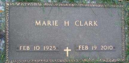 ALJETS CLARK, MARIE HELEN - Minnehaha County, South Dakota | MARIE HELEN ALJETS CLARK - South Dakota Gravestone Photos