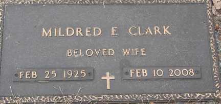 CLARK, MILDRED E. - Minnehaha County, South Dakota   MILDRED E. CLARK - South Dakota Gravestone Photos