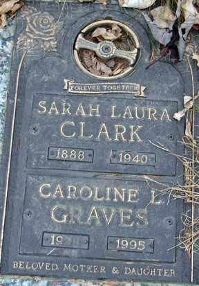 CLARK, SARAH LAURA - Minnehaha County, South Dakota | SARAH LAURA CLARK - South Dakota Gravestone Photos