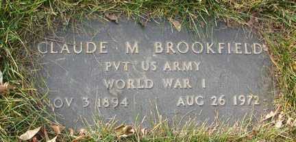 BROOKFIELD, CLAUDE M. - Minnehaha County, South Dakota   CLAUDE M. BROOKFIELD - South Dakota Gravestone Photos