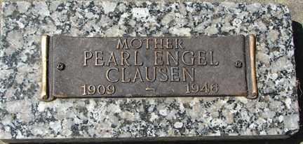 ENGEL CLAUSEN, PEARL - Minnehaha County, South Dakota   PEARL ENGEL CLAUSEN - South Dakota Gravestone Photos