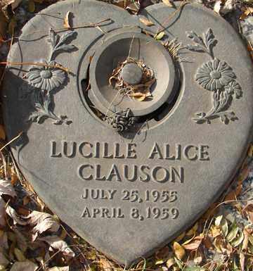 CLAUSON, LUCILLE ALICE - Minnehaha County, South Dakota   LUCILLE ALICE CLAUSON - South Dakota Gravestone Photos
