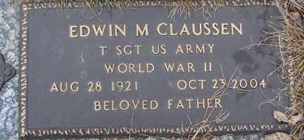 CLAUSSEN, EDWIN M. (WWII) - Minnehaha County, South Dakota | EDWIN M. (WWII) CLAUSSEN - South Dakota Gravestone Photos