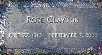 CLAYTON, ROSE - Minnehaha County, South Dakota | ROSE CLAYTON - South Dakota Gravestone Photos