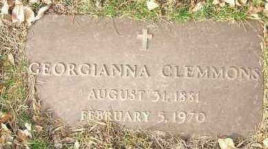 CLEMMONS, GEORGIANNA - Minnehaha County, South Dakota | GEORGIANNA CLEMMONS - South Dakota Gravestone Photos