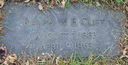 CLIFT, RALPH WALDO E. - Minnehaha County, South Dakota | RALPH WALDO E. CLIFT - South Dakota Gravestone Photos