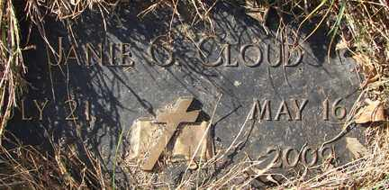 CLOUD, JANIE G. - Minnehaha County, South Dakota | JANIE G. CLOUD - South Dakota Gravestone Photos