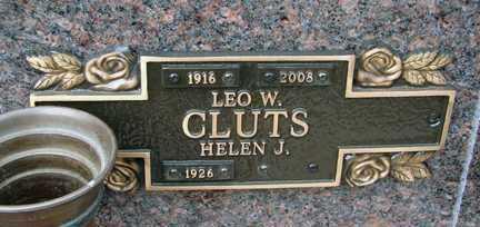 CLUTS, HELEN J. - Minnehaha County, South Dakota | HELEN J. CLUTS - South Dakota Gravestone Photos