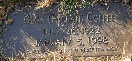 FALLAN COFFEE, OLGA - Minnehaha County, South Dakota | OLGA FALLAN COFFEE - South Dakota Gravestone Photos