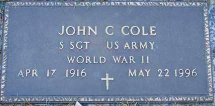 COLE, JOHN C. - Minnehaha County, South Dakota | JOHN C. COLE - South Dakota Gravestone Photos
