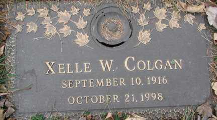 COLGAN, XELLE W. - Minnehaha County, South Dakota | XELLE W. COLGAN - South Dakota Gravestone Photos