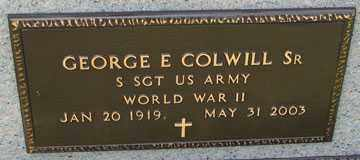 COLWILL, GEORGE E. SR. (WWII) - Minnehaha County, South Dakota | GEORGE E. SR. (WWII) COLWILL - South Dakota Gravestone Photos