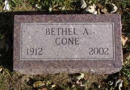 CONE, BETHEL A. - Minnehaha County, South Dakota | BETHEL A. CONE - South Dakota Gravestone Photos