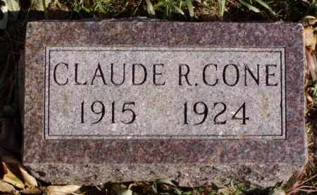 CONE, CLAUDE R. - Minnehaha County, South Dakota | CLAUDE R. CONE - South Dakota Gravestone Photos