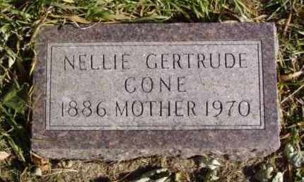 CONE, NELLIE GERTRUDE - Minnehaha County, South Dakota | NELLIE GERTRUDE CONE - South Dakota Gravestone Photos