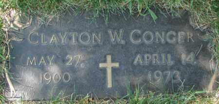 CONGER, CLAYTON W. - Minnehaha County, South Dakota | CLAYTON W. CONGER - South Dakota Gravestone Photos