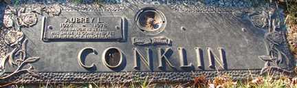 CONKLIN, AUBREY L. - Minnehaha County, South Dakota | AUBREY L. CONKLIN - South Dakota Gravestone Photos
