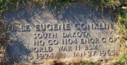 CONKLIN, DALE EUGENE - Minnehaha County, South Dakota | DALE EUGENE CONKLIN - South Dakota Gravestone Photos