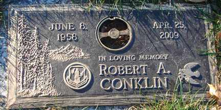 CONKLIN, ROBERT A. - Minnehaha County, South Dakota | ROBERT A. CONKLIN - South Dakota Gravestone Photos
