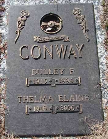 CONWAY, DUDLEY F. - Minnehaha County, South Dakota | DUDLEY F. CONWAY - South Dakota Gravestone Photos