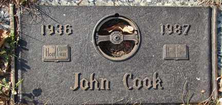 COOK, JOHN - Minnehaha County, South Dakota | JOHN COOK - South Dakota Gravestone Photos