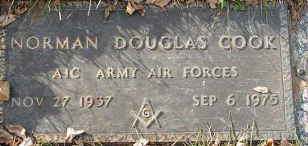 COOK, NORMAN DOUGLAS - Minnehaha County, South Dakota | NORMAN DOUGLAS COOK - South Dakota Gravestone Photos