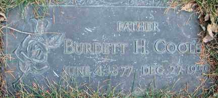 COOLEY, BURDETT H. - Minnehaha County, South Dakota | BURDETT H. COOLEY - South Dakota Gravestone Photos