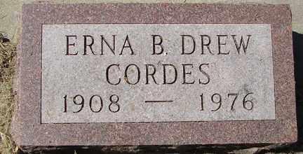 DREW CORDES, ERNA B. - Minnehaha County, South Dakota   ERNA B. DREW CORDES - South Dakota Gravestone Photos