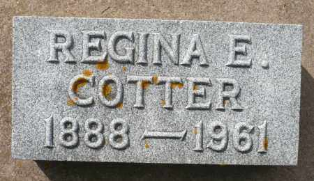 COTTER, REGINA E. - Minnehaha County, South Dakota | REGINA E. COTTER - South Dakota Gravestone Photos