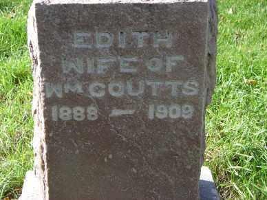 COUTTS, EDITH - Minnehaha County, South Dakota | EDITH COUTTS - South Dakota Gravestone Photos